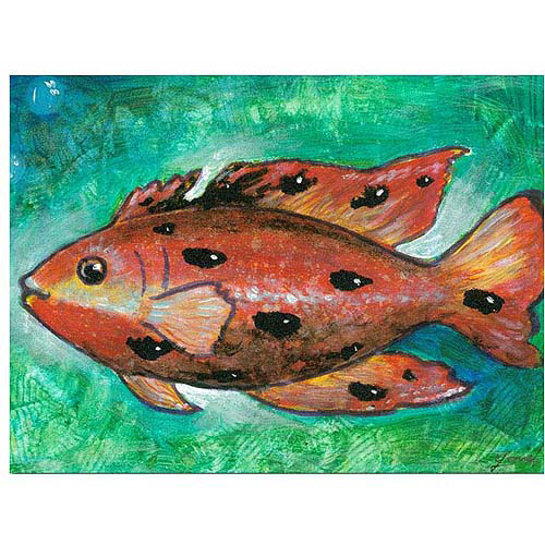 "Trademark Fine Art ""Orange Fish"" Canvas Art"