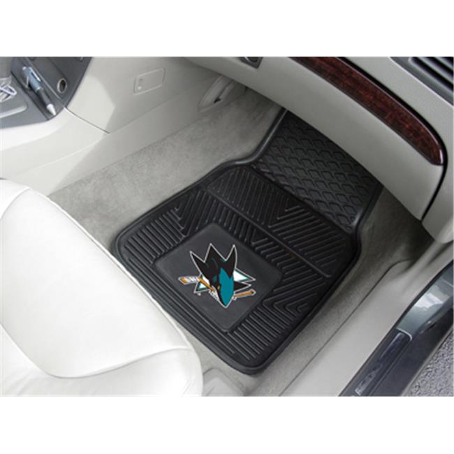 Fanmats 10673 NHL - 18 inch x27 inch  - San Jose Sharks 2-pc Heavy Duty Vinyl Car Mat Set