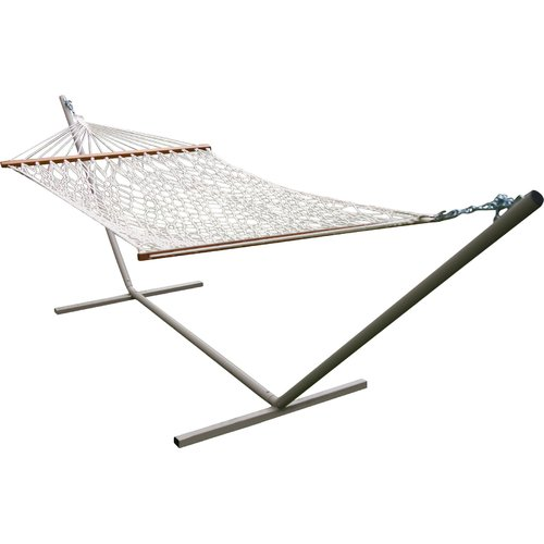 castaway hammocks rope cotton hammock with stand castaway hammocks rope cotton hammock with stand   walmart    rh   walmart