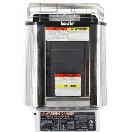 TOULE NTSC90 9 KW ETL Wet And Dry Sauna Heater Stove for Spa Sauna Room w/ Wall Digital Controller