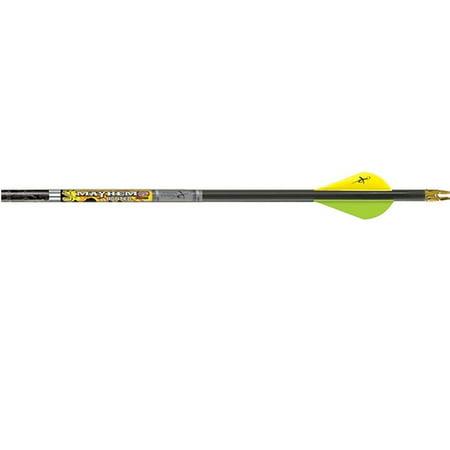 Feather Fletched Arrows (Carbon Express Mayhem Hunter Fletched DS 350 Arrow Mossy Oak)