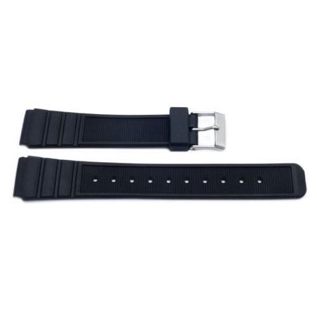 Black Casio Style Sport 16mm Replacement Watch Band 16 Mm Width Band