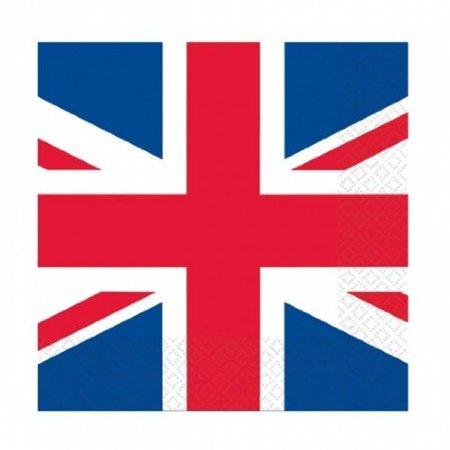 Great Britain Union Jack Party Napkins Serviettes Tableware Decorations - Union Jack Party Decorations