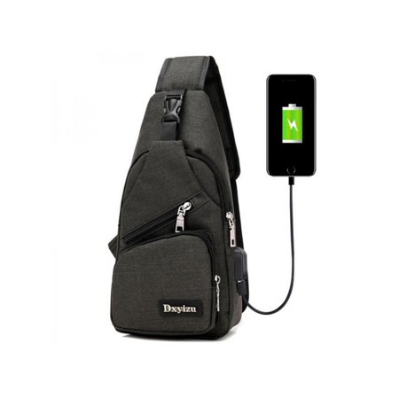 06b8a1f289 Topumt - Topumt Men Waterproof Chest Pack Crossbody Bag Sling Bags Outdoor  Hiking Running Travel Bags USB Charge Port - Walmart.com