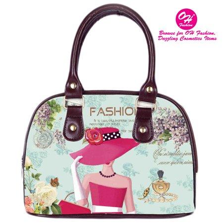 OH Fashion Women Handbag Shoulder Bag Elegant Louise PU Leather Handbag Shoulder Bag Tote Purse Clutch Fashion Girls Design My OH Fashion - Tiffany Leather Clutch