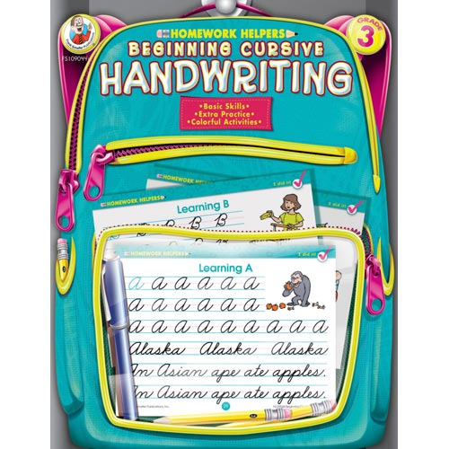 Homework Helpers Beginning Cursive Handwriting Grade 3