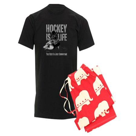 CafePress - CafePress - Hockey Is Life Pajamas - Men s Dark Pajamas -  Walmart.com 6b0f415f7