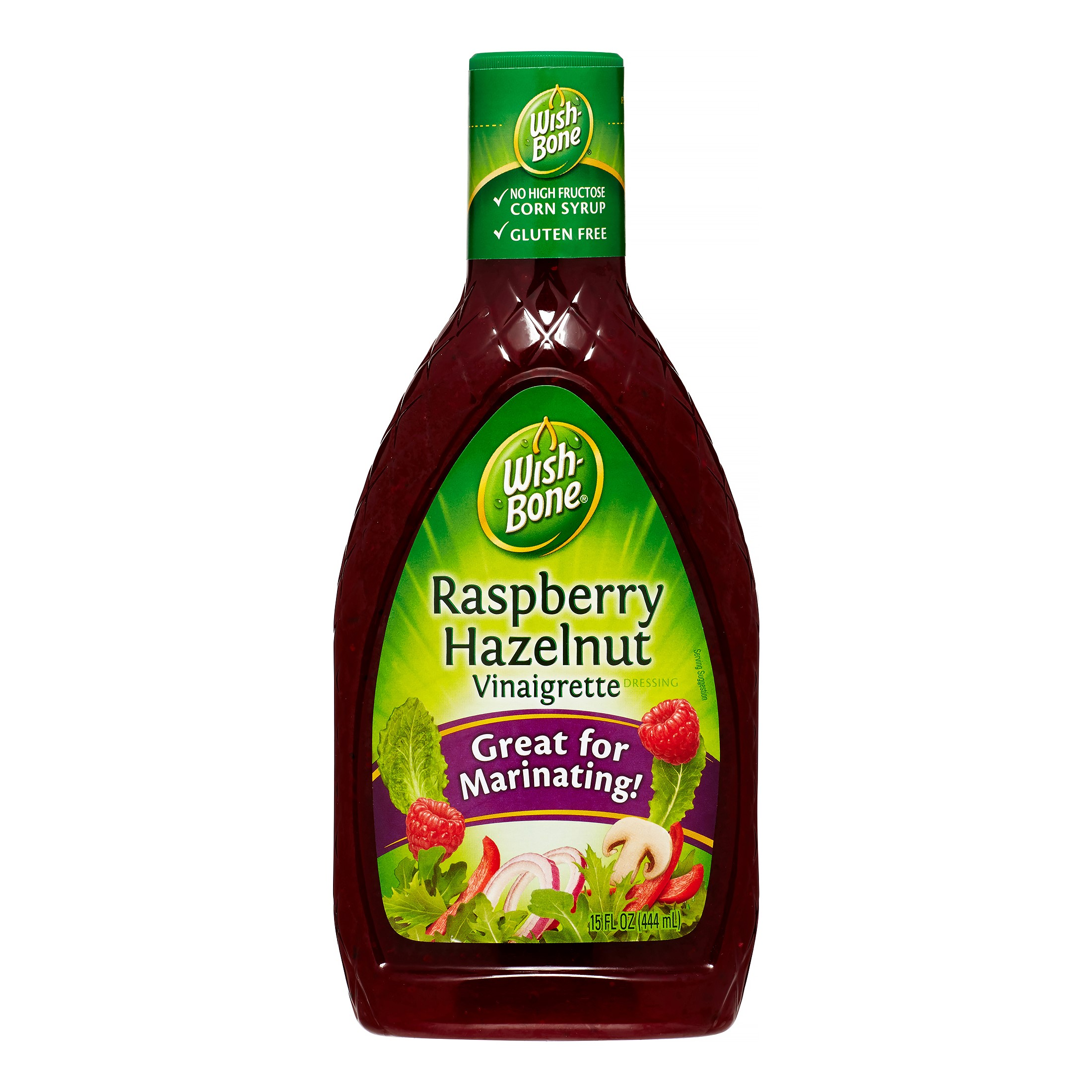 (3 Pack) Wish-Bone Salad Dressing, Raspberry Hazelnut Vinaigrette, 15 Fl Oz