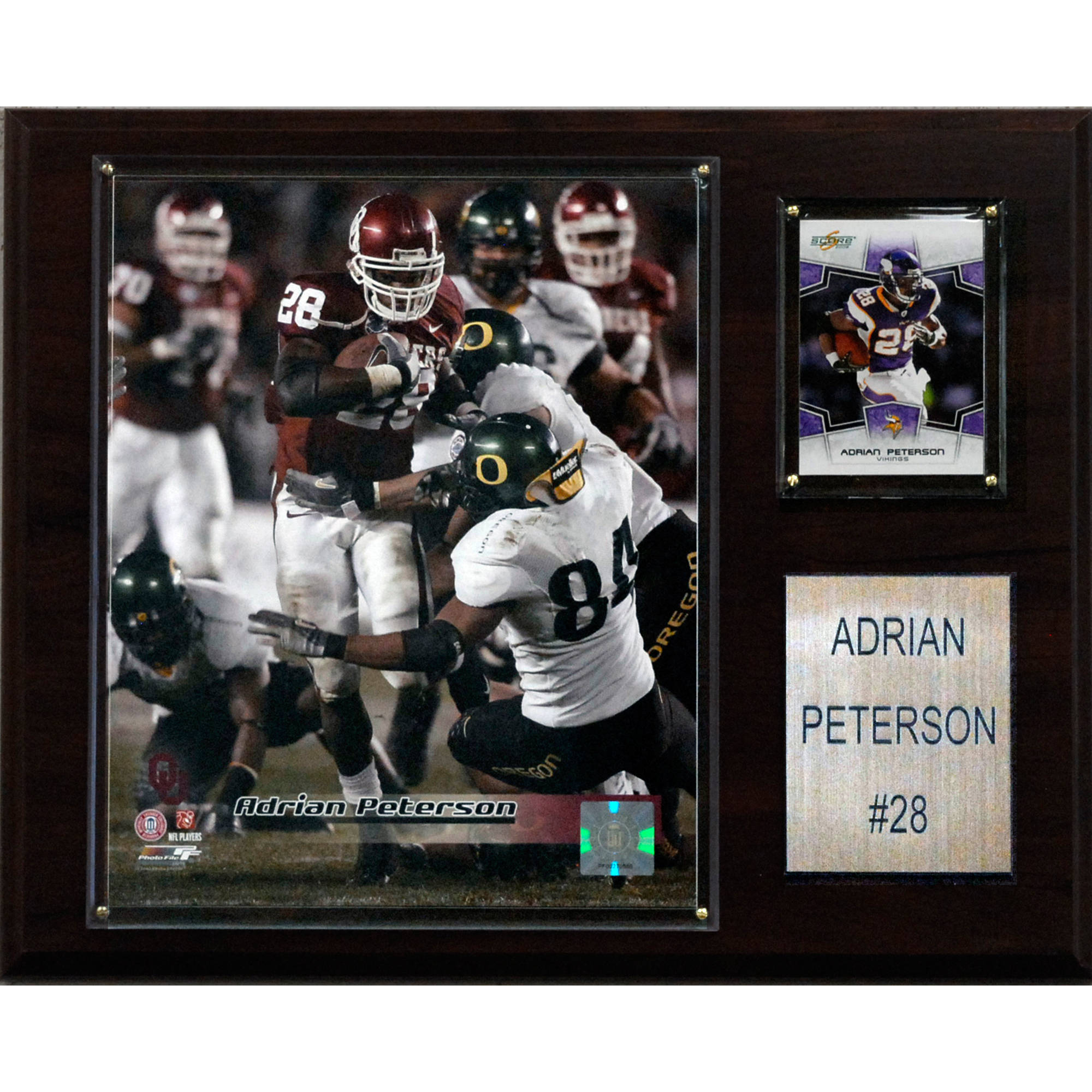 C&I Collectables NCAA Football 12x15 Adrian Peterson Oklahoma Sooners Player Plaque