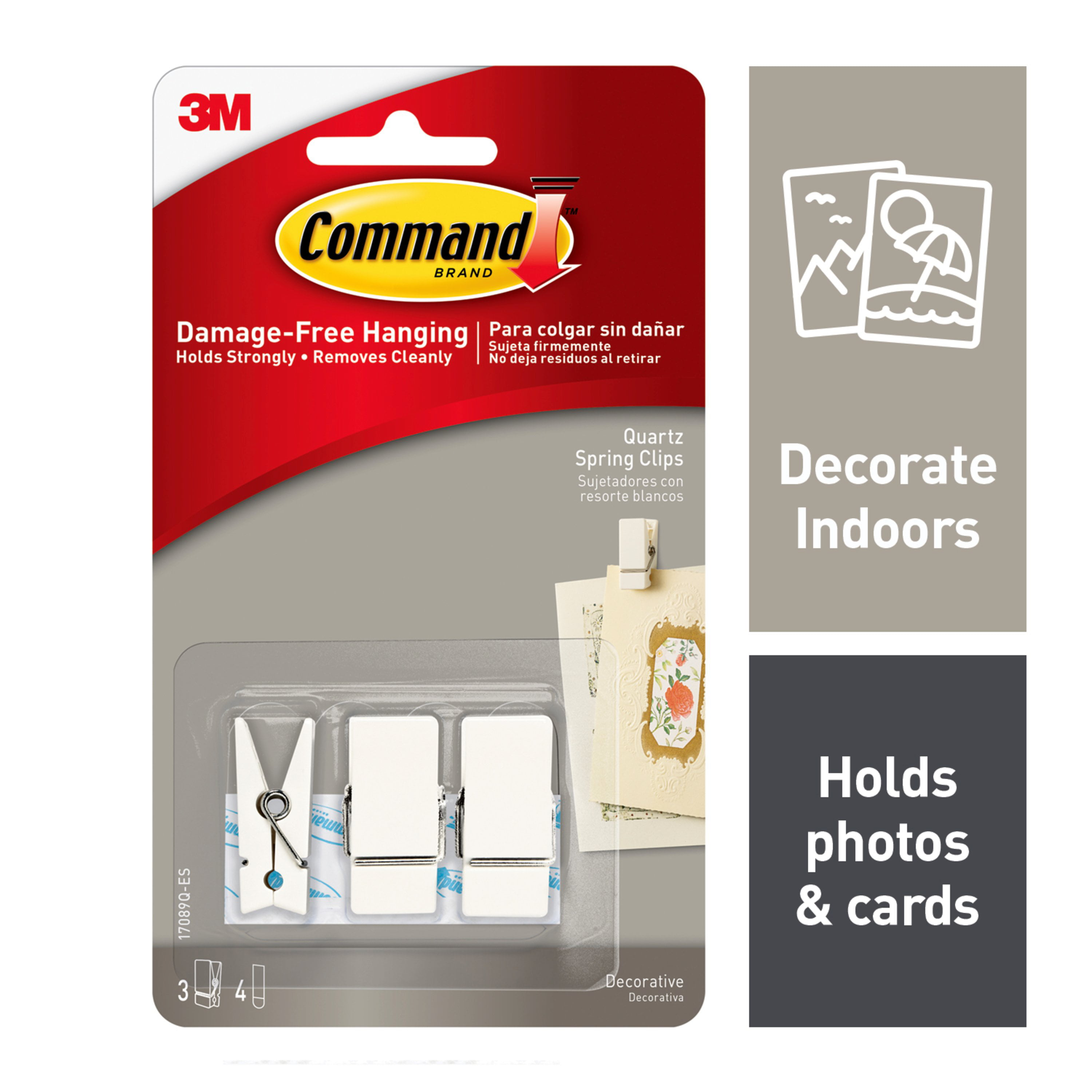 Command Strips 146587 Spring Clip Clear