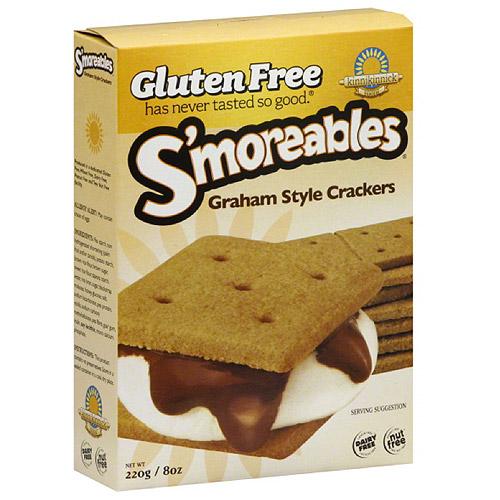 Kinnikinnick Foods S'moreables Graham Crackers, 8 oz, (Pack of 6)