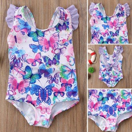 Toddler Kid Baby Girls Bikini Swimwear Swimsuit Bathing Suit Butterfly Beachwear