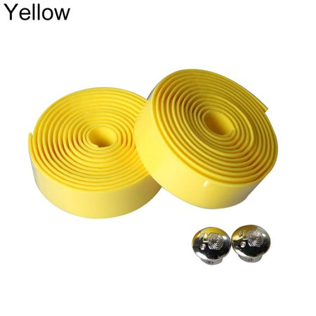 Cheers 2Pcs Cycling Road Bike Sports Bicycle Handlebar Rubber Tape Wrap with 2 Bar Plug - image 4 de 7