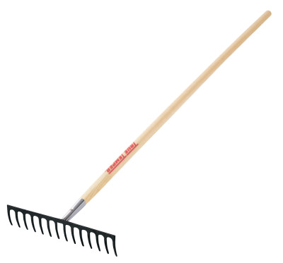 AMES Level Head and Thatching Rake, 14 in Forged Steel Bl...