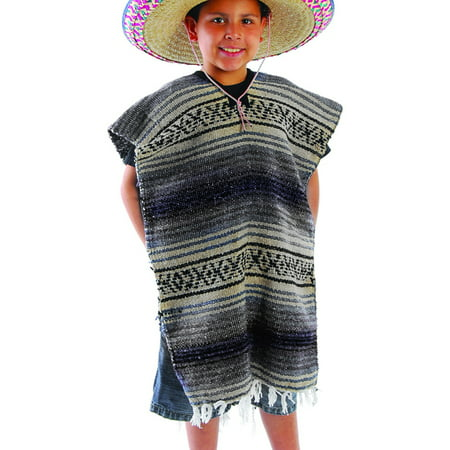 Child Size Traditional Poncho - No Sombrero,COLORS MAY - Poncho And Sombrero