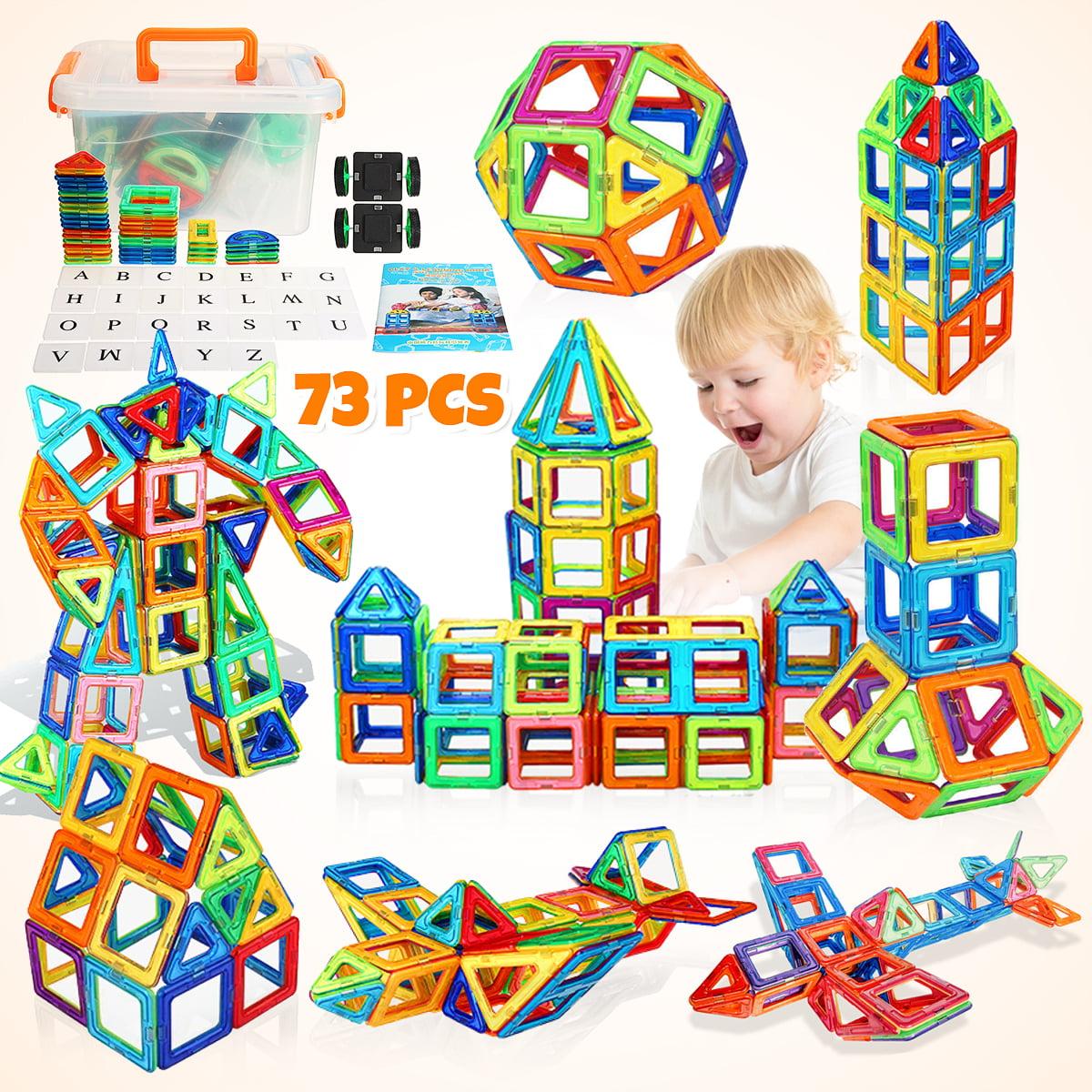100pcs 3D Magnetic DIY Building Blocks Educational Kids Toys Box Manual