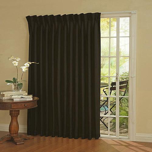 Eclipse Thermal Blackout Patio Door Curtain Panel - Walmart.com