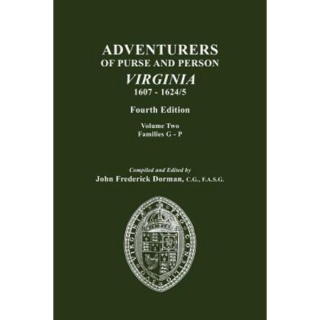 Adventurers Of Purse And Person Virginia 1607 1624 5