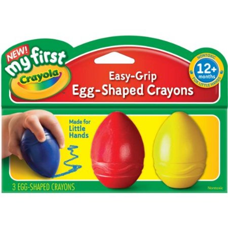 Crayola My First Crayola Scribbled Egg Crayons, Easy-Grip (1-Pack of 3)](Sky Blue Crayola)
