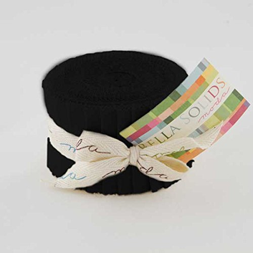 Moda Bella Solids Black Junior Jelly Roll