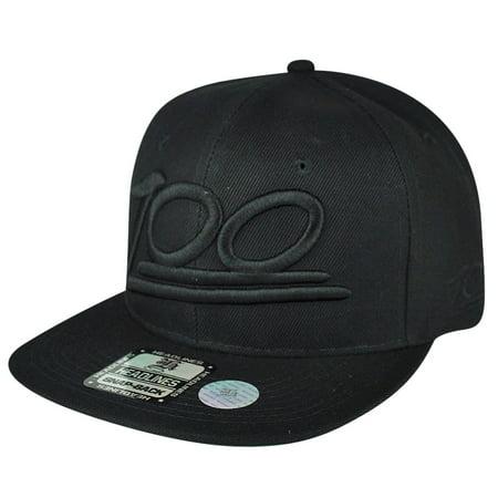 Split Bill Cap - 100 One Hundred Emoji Emoticons Text Symbol Snapback Hat Cap Flat Bill Black