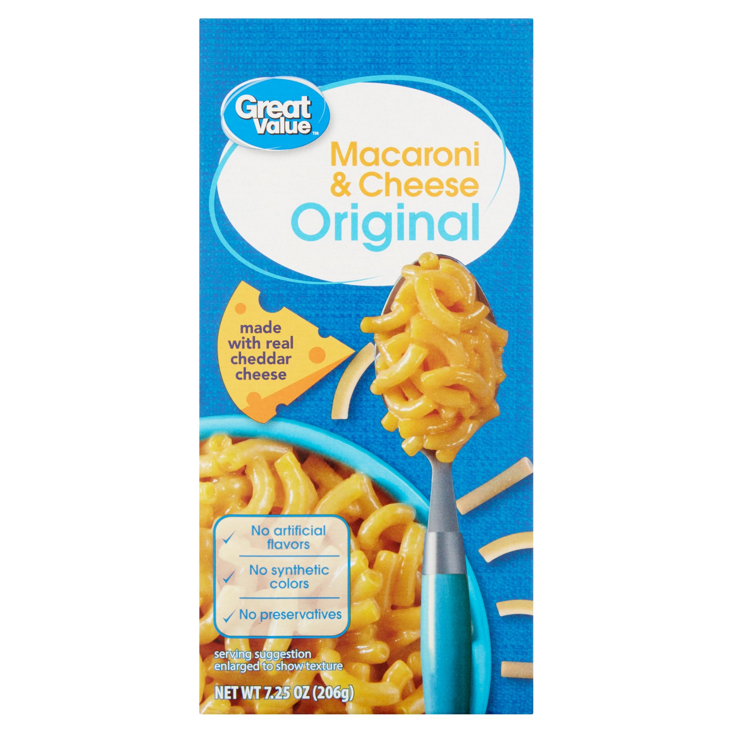 Great Value Macaroni & Cheese, Original, 7.25 oz