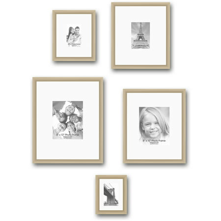 gallery frames set of 5 champagne