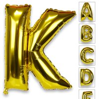 Just Artifacts Glossy Gold (30-inch) Decorative Floating Foil Mylar Balloons - Letter: K - Letter and Number Balloons for any Name or Number Combination!
