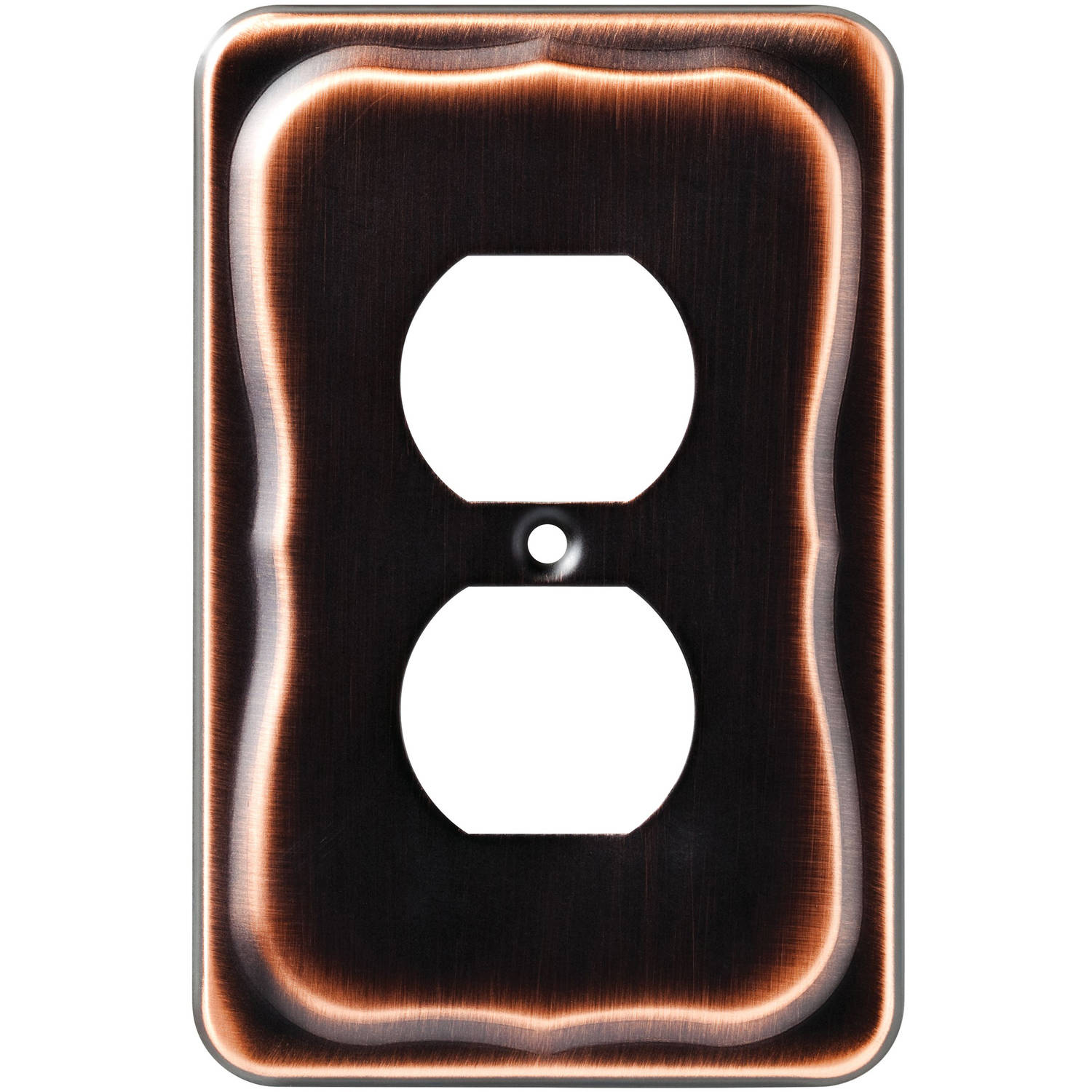 Brainerd Tenley Single Duplex Wall Plate, Bronze