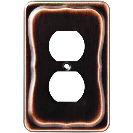 Renaissance Dark Bronze Wall - Brainerd Tenley Single Duplex Wall Plate, Bronze