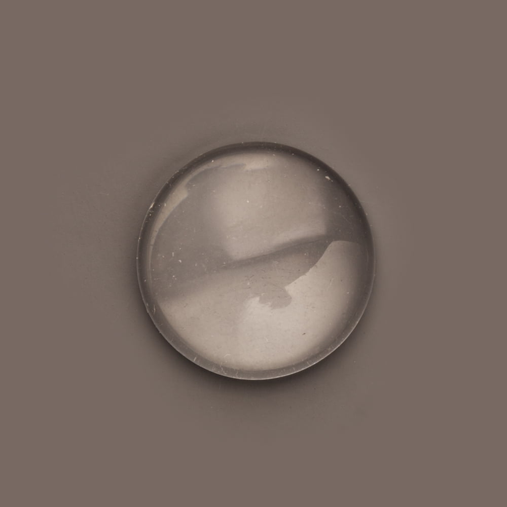 48 Clear Glass Dome Tile Cabochon Clear 25mm 1 Inch Non-calibrated Round Rockin Beads Brand