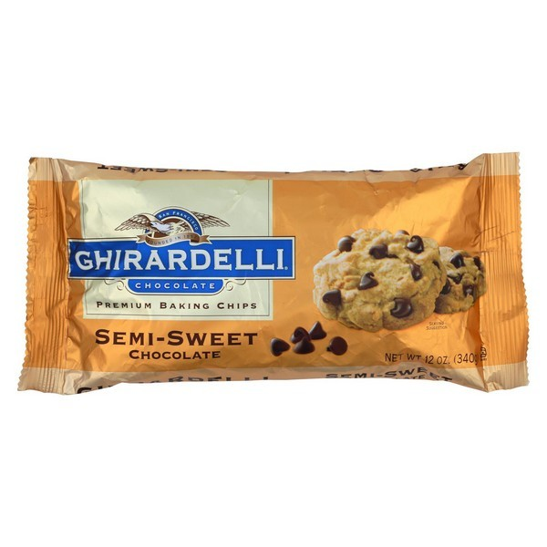 Ghirardelli Baking Chips - Semi Sweet Chocolate - Pack of 12 - 12 Oz.