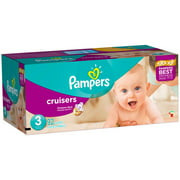 Pampers Cruisers Diapers, Super Pack, (Choose Your Size)