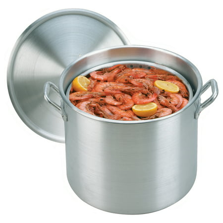 - King Kooker Aluminum Pot with Basket and Lid