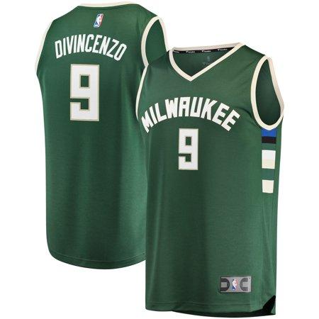 f1b73a4b6 Donte DiVincenzo Milwaukee Bucks Fanatics Branded Fast Break Replica Jersey  - Icon Edition - Hunter Green - Walmart.com