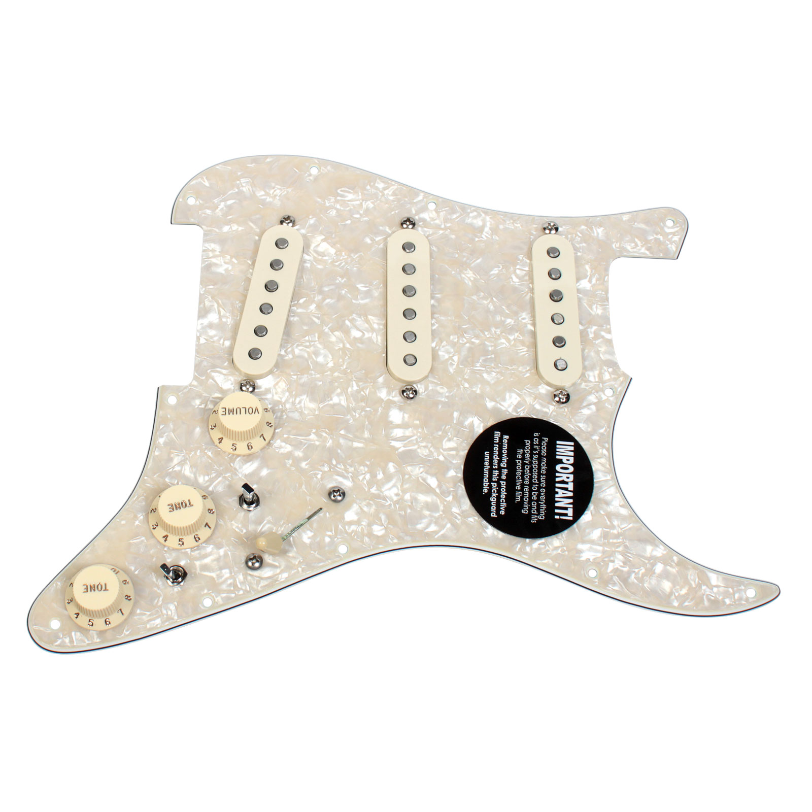 Fender Stratocaster Strat Loaded Pickguard DiMarzio Area Phostenix 9 Way AWP/AW