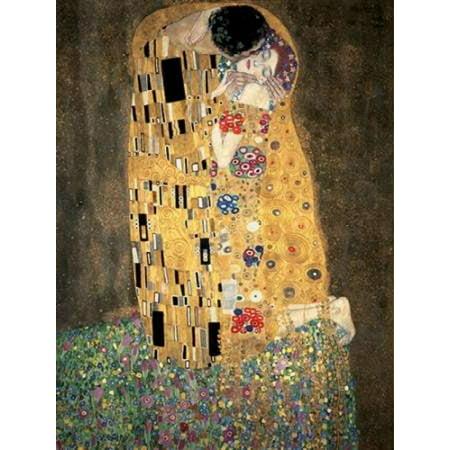 The Kiss Poster Print by Gustav - Klimt The Kiss Halloween