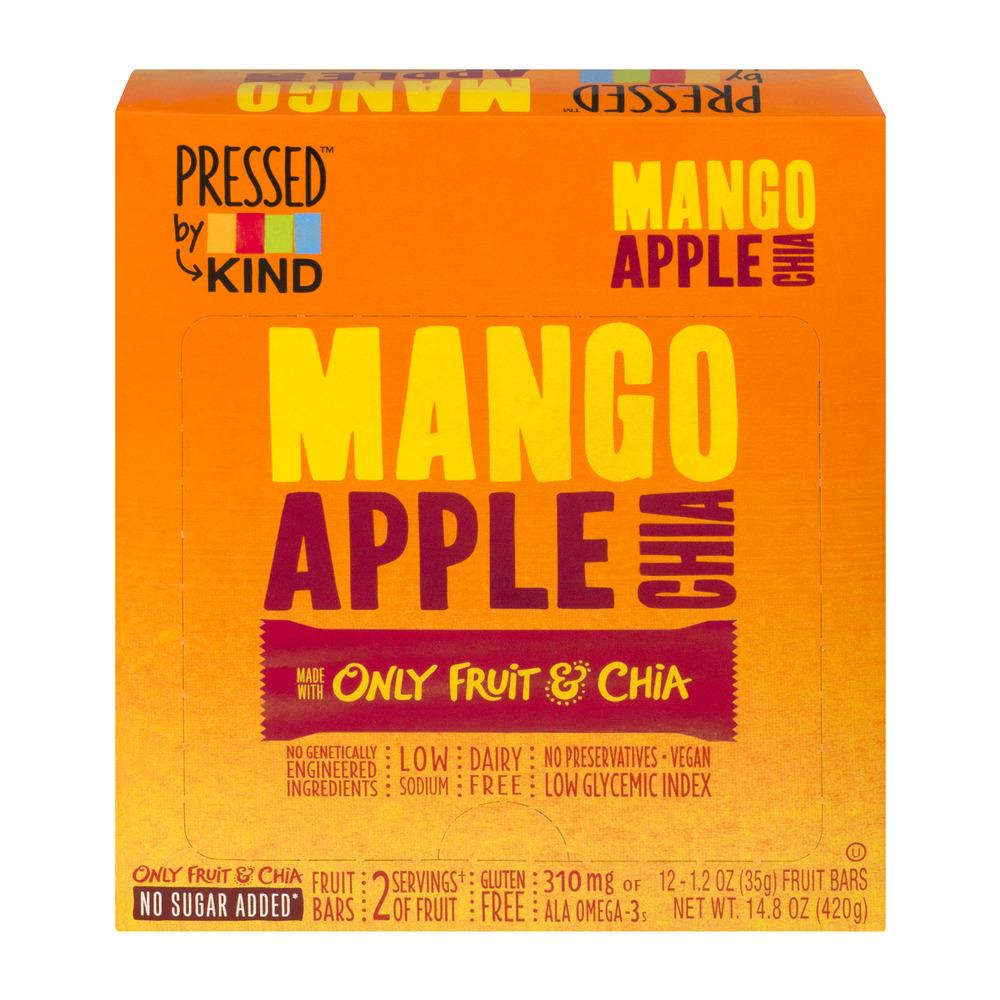 Pressed by KIND Mango Apple Chia Fruit Bars - 12 CT