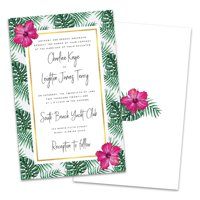 Personalized Palm Leaves Wedding Invitations