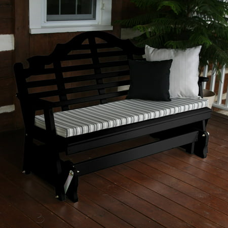 A & L Furniture Yellow Pine Marlboro Outdoor Bench Glider ()