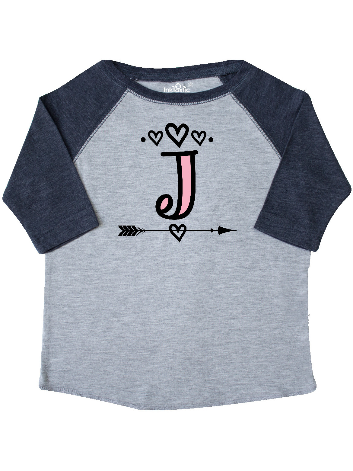 inktastic Letter J Monogram Tribal Arrow Toddler Long Sleeve T-Shirt