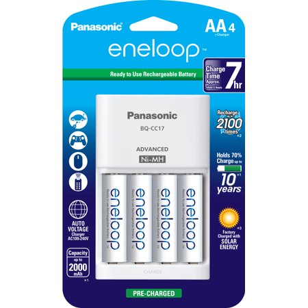 Panasonic eneloop AA 4 Pack + 4-position charger