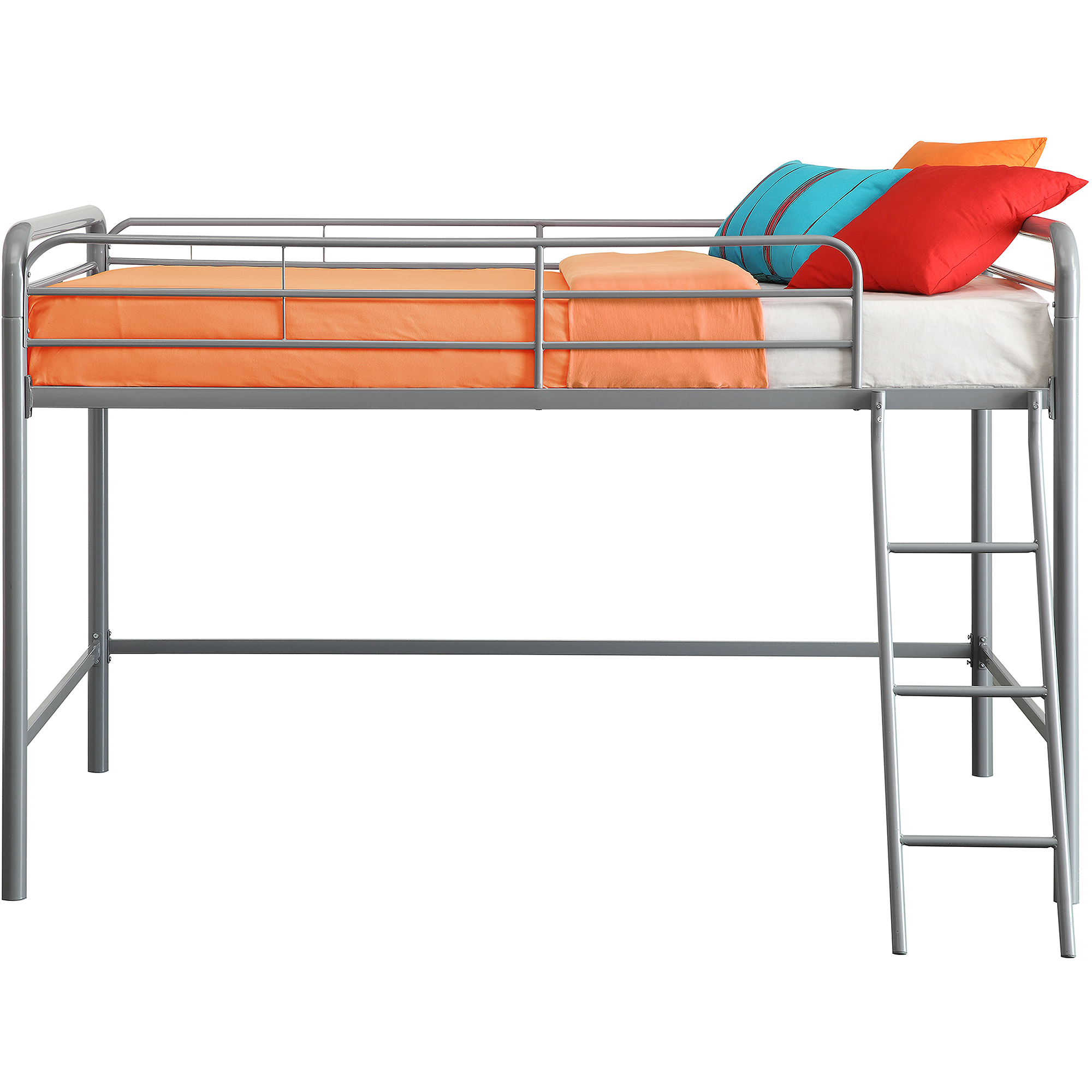Twin Over Bunk Beds Junior Kids Boys Girls Bedroom Furniture Metal