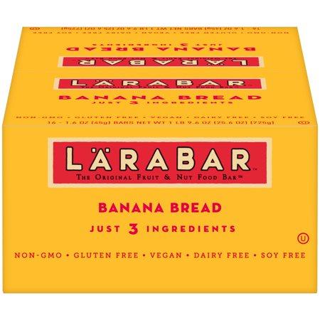 - Larabar Gluten Free Bar, Banana Bread, 1.6 oz Bars (16 Count)