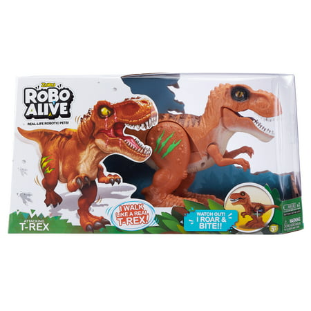 Robo Alive Attacking T-Rex Battery-Powered Robotic Toy by ZURU (Robots For 4 Year Olds)