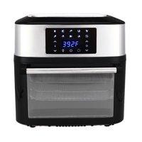 Clearance! 16.91-Quart Air Fryer Oil-Free, Electric Air Fryer with LED Digital, 1800W Air Fryers Oven w/Dehydrator & Rotisserie, 8 Accessories, Upgraded Touch Screen, for Cook, Fry, Grill, Bake, S186