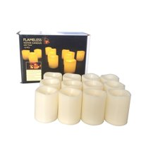 Product Image Candle Choice Indoor Outdoor Set Of 12 Flameless Votive Candles With 6 HourTimer