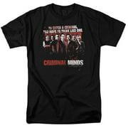 Trevco Criminal Minds-Think Like One - Short Sleeve Adult 18-1 Tee - Black, Small