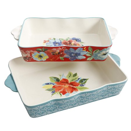 Baking Dish Spring Bouquet 2-Piece Baker Set Floral, Pioneer Woman Spring Bouquet 2 Piece Set By The Pioneer Woman