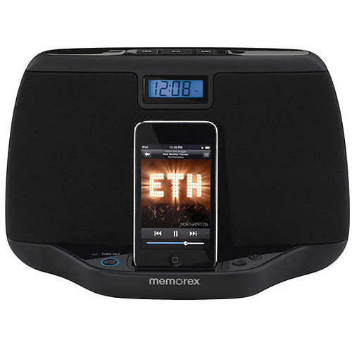 Memorex iPod Speaker System/Dock, Black, Refurbished
